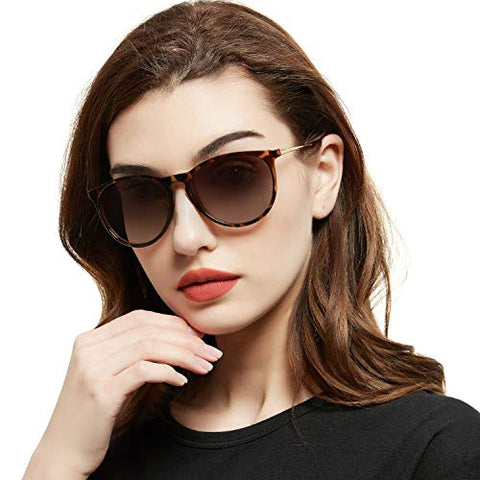 Vintage retro style polarized sunglasses with UV400 protection