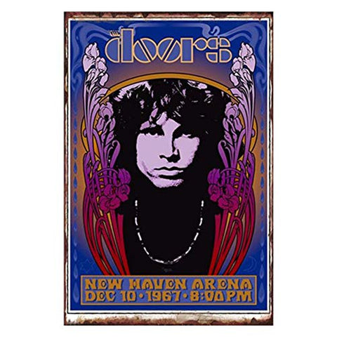 Vintage 1967 The Doors Concert Metal Sign