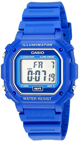 Casio Digital Blue Resin Strap Watch F108WH