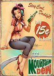 Vintage Mountain Dew Stay Cool Metal Sign