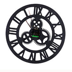 Large Vintage Gear Wall Clock 19.7""