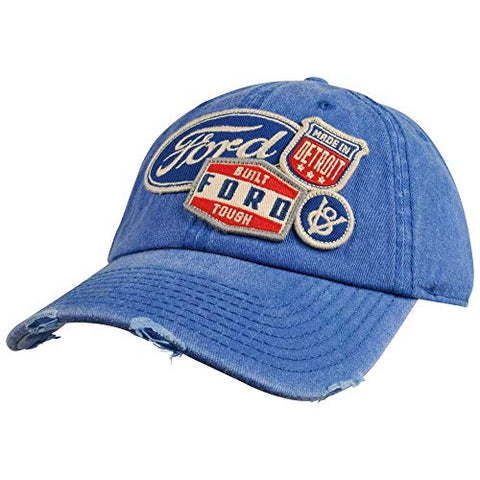 Retro Ford Patch Distressed Hat