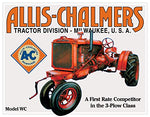 Allis Chalmers Tractor Model U Metal Sign 16""