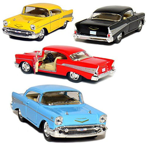 Set of 4: 1957 Chevy Bel Air Coupe 1:40 Scale