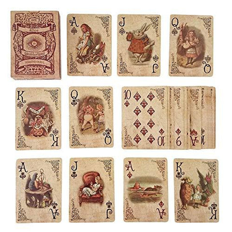 Alice In Wonderland Playing Cards - UniqueVintages