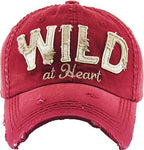 Wild at Heart Vintage Distressed Cap