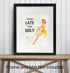 Vintage Pinup Girl Decor Print
