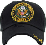 US Army Seal Vintage Adjustable Cap Black