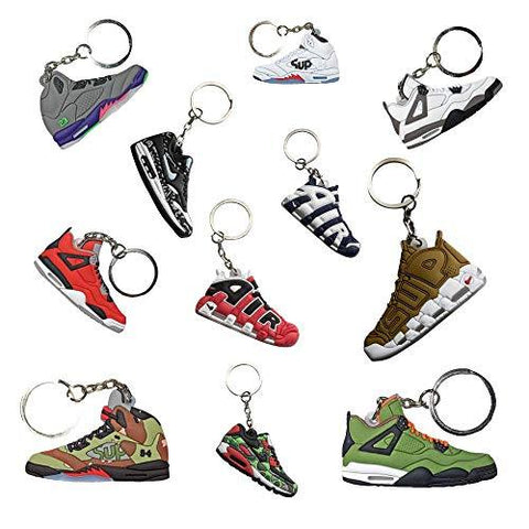 Retro Sneakers Keychains Set of 10 - UniqueVintages