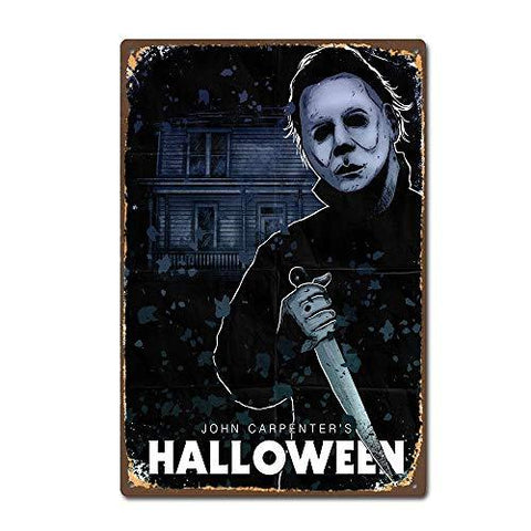 Halloween Horror Movie Vintage Sign - UniqueVintages