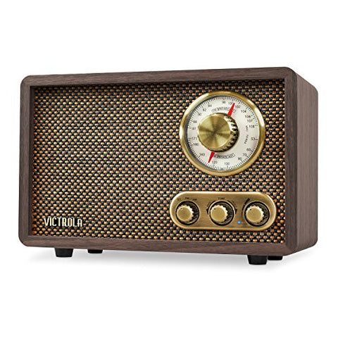Retro Wood Bluetooth FM/AM Radio