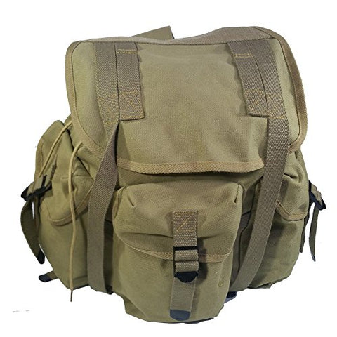 Retro WWII US Military M14 Haversack Field Bag Backpack Canvas