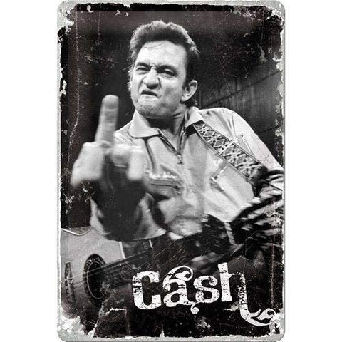 Vintage Johnny Cash Metal Sign
