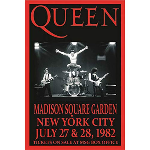 Queen Concert 1982 NY Retro Metal Sign