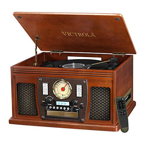 Retro 8-in-1 Classic Bluetooth USB Record Player Turntable