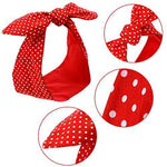 2 Pieces Polka Dot Headband Retro - UniqueVintages
