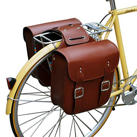 Retro Bicycle Rack Bag Leather
