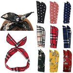 Retro Twist Bow Wire Headbands Pack of 9 - UniqueVintages