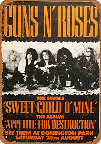 Guns 'N Roses 1988 Vintage Metal Sign