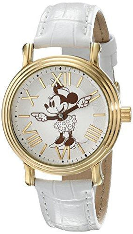 Disney Vintage Minnie Mouse Quartz White Watch - UniqueVintages