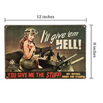 Army Stuff Pinup Girl Vintage Sign