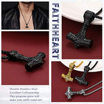 Vintage Viking Thor Hammer Pendant Necklace