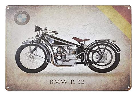 BMW R32 Motorcycle Retro Metal Sign