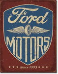 Ford Motors 1903 Vintage Metal Tin Sign