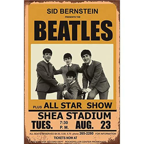 Beatles Vintage Show Metal Sign - UniqueVintages