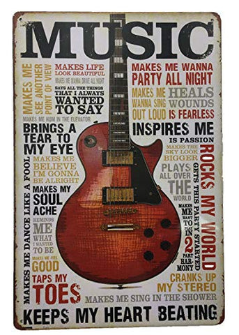 Metal Vintage Music Tin Sign
