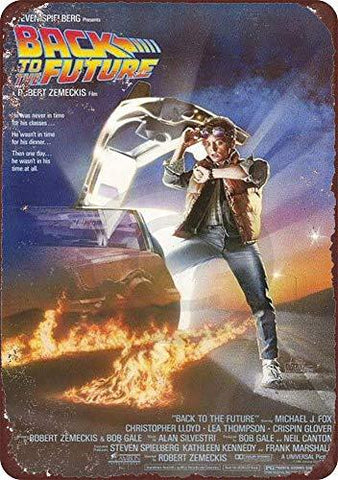 Back to The Future Vintage Metal Tin Sign - UniqueVintages
