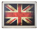 British Flag Retro Metal Sign - UniqueVintages
