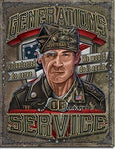 Generations of Service Metal Sign 16""
