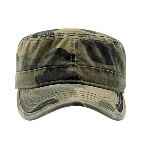 Retro Flat Top Military Cadet Hat