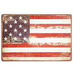 USA American Vintage Flag Metal Sign