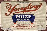 1933 Yuengling's Beer Label Metal Sign - UniqueVintages