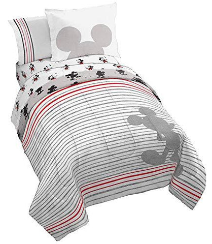 Disney Mickey Mouse Vintage 90th Stripe Bed Set - UniqueVintages