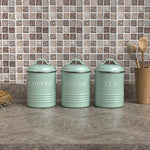 Vintage Canister with Lids (Set of 3)