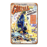 1956 Godzilla Movie Vintage Metal Sign - UniqueVintages
