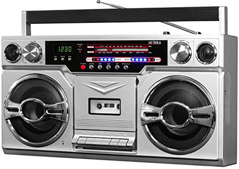 Retro Bluetooth Boombox with Cassette Player