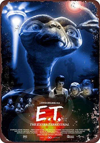 1982 E.T. Movie Vintage Metal Sign - UniqueVintages