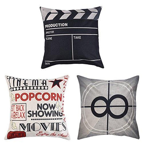 Decorative Movie Pillow 3 Set - UniqueVintages