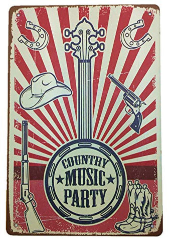 Metal Vintage Country Music Sign