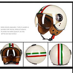 Retro Open Face Motorcycle Helmet