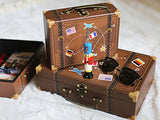 Vintage Cardboard Suitcase Boxes (Set of 3) Decoration