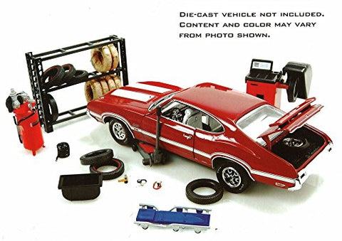 Repair Tire Shop DieCast 1:24 Diorama Accessory