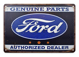Ford Authorized Dealer Retro Sign