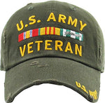 US Army Veteran Military Vintage Adjustable Cap