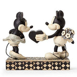 "Black & White Vintage Mickey & Minnie Mouse Stone Resin 6"" - UniqueVintages"