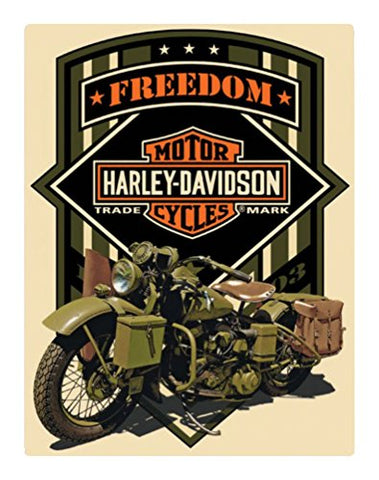 Harley-Davidson Freedom Green Military Metal Sign